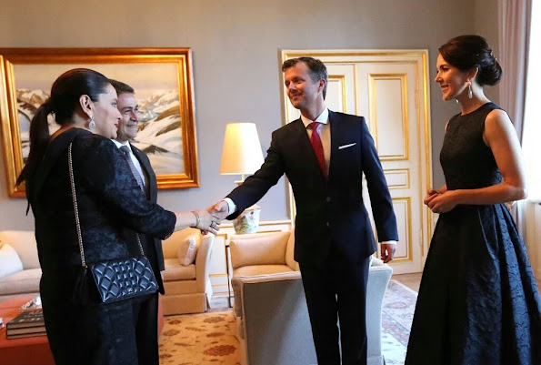 Crown Princess Mary and Crown Prince Frederik of Denmark held a dinner for participants in fashion of the Copenhagen Fashion Summit 2016