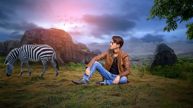 Picsart Adventure Of Mountains With Zebra Photo Manipulation