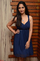 Radhika Mehrotra in a Deep neck Sleeveless Blue Dress at Mirchi Music Awards South 2017 ~  Exclusive Celebrities Galleries 069.jpg