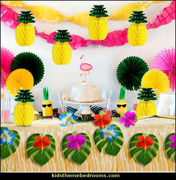 Tropical party Tissue Paper Pineapples party deccorations