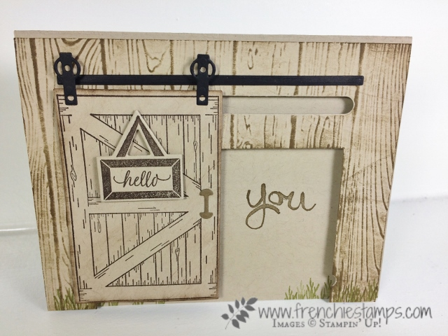 Barn Door, Sliding Door Framelits, Stampin'Up!, Art of Work