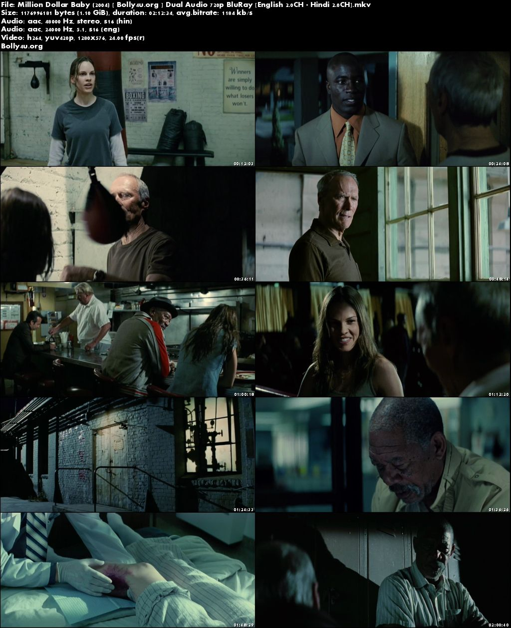 Million Dollar Baby 2004 BluRay 1GB Hindi Dual Audio 720p Download
