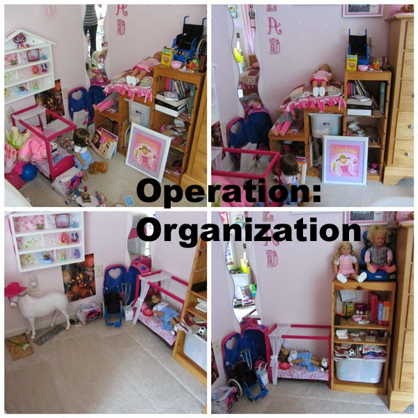 American Girl Doll Bedroom: CONTROLLING Craziness: Organizing A Girl's Bedroom, Part 1