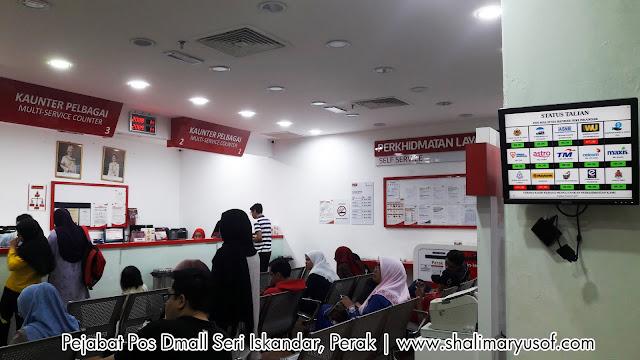 Lokasi Baru Pejabat Pos Seri Iskandar Perak
