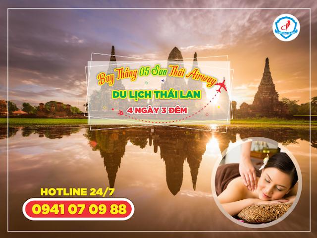 Thái Lan Bangkok Pattaya 4 ngày 3 đêm bay 5 sao