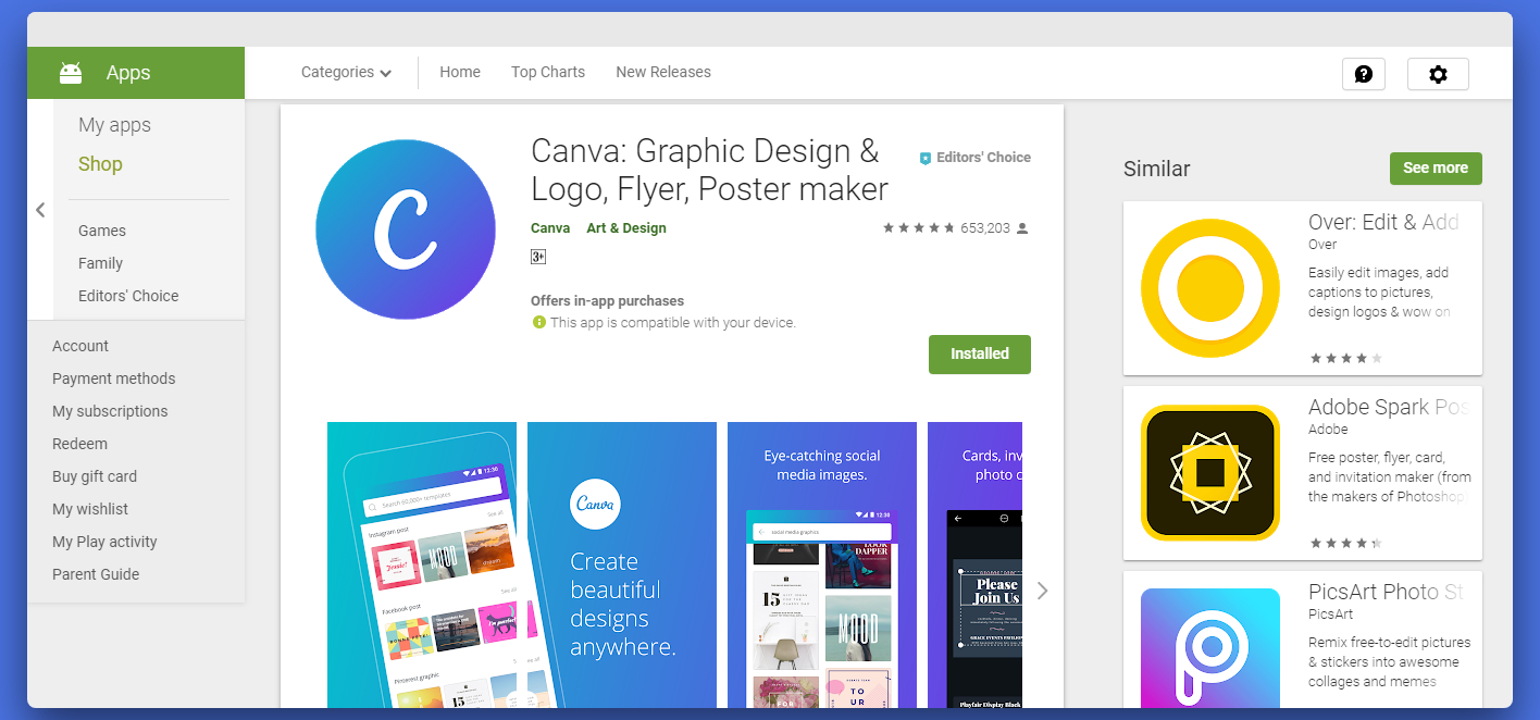 Canva-Android-app