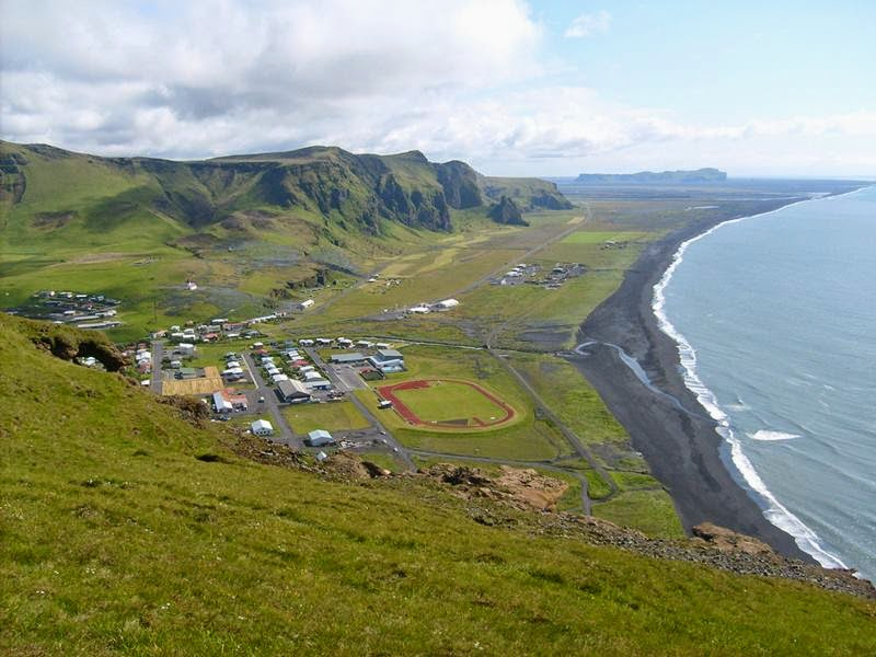 The black sand and pebble beach near the town of Vik i Myrdal, the southernmost settlement in Iceland.