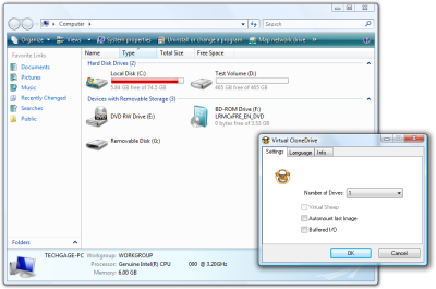 Virtual CloneDrive Terbaru (Software Menambah Drive Komputer)