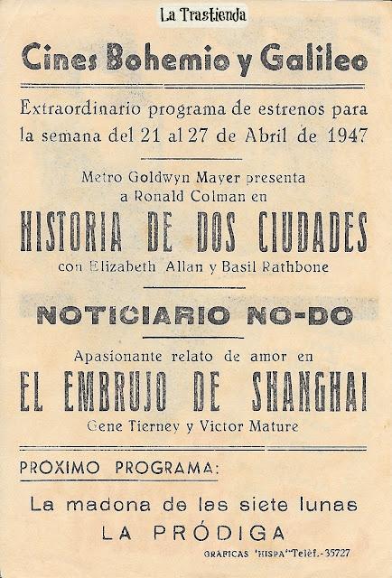 Programa de Cine - El Embrujo de Shanghai - Gene Tierney - Victor Mature