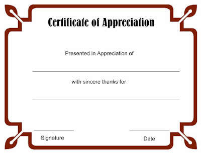 Free Templates For Certificate Of Recognition Nhhjy