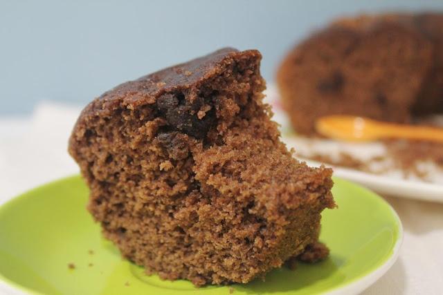 El dulce mundo de Nerea - Bizcocho de chocolate y mantequilla de cacahuete
