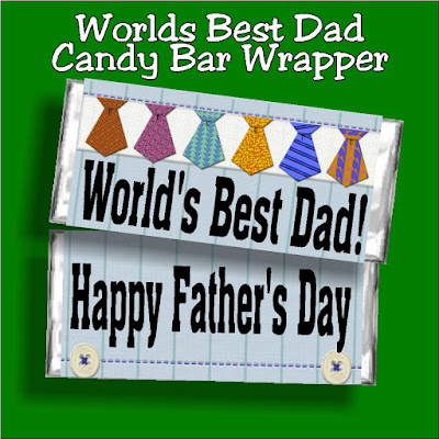 Tell your dad how amazing he is with this Worlds Best Dad candy bar wrapper printable. Give him a chocolate bar in place of a Father's day card and you are sure to be his favorite kid this Father's day!