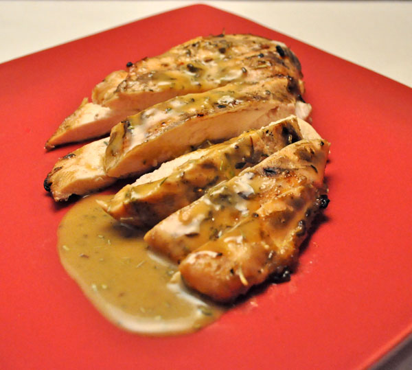 Featured Recipe | Grilled Honey Mustard Chicken from Thyme for Cooking #recipe #grill #SecretRecipeClub