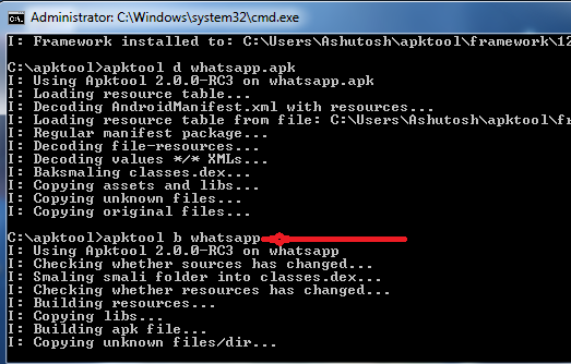 building new apk file to enable calling in whatsapp