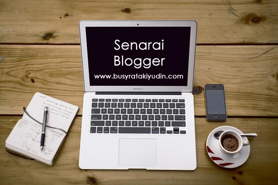 Senarai Blogger Giveaway by Busyratakiyudin