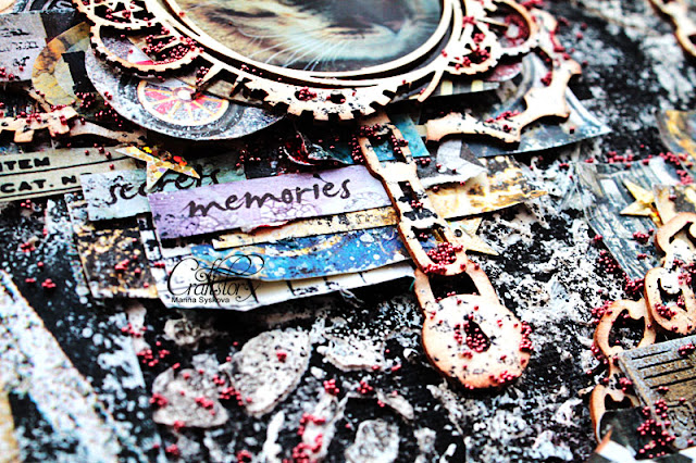 @marinasyskova #scrapbooking #scrap #mixedmedia #canvas #craftstory #steampunk