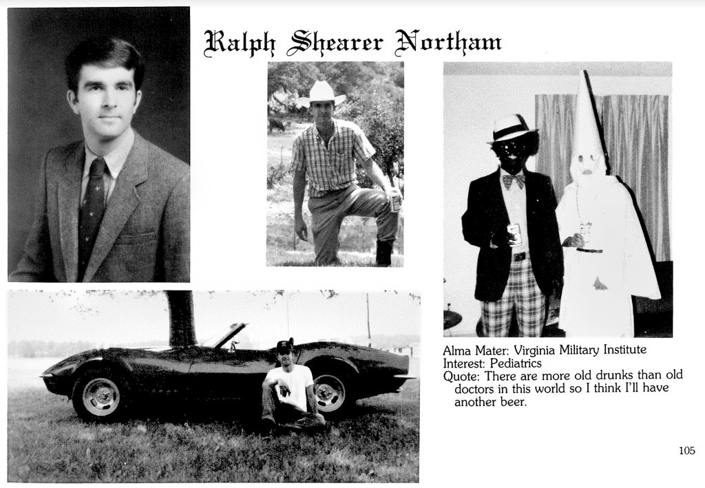Ralph Northam, Virginia Governor, Admits He Was in Racist Photo