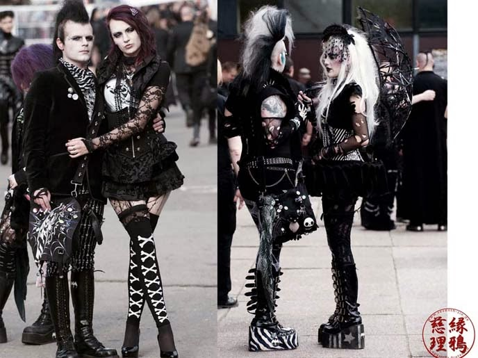 Today This Is How People Who Follow The Gothic Style Will Actually Dress Mostly It Be Black Or Dark Color Clothing High Creeper Veils Hair