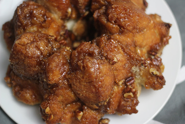 Make this easy Monkey Bread recipe in no time and enjoy sticky, pecan goodness!