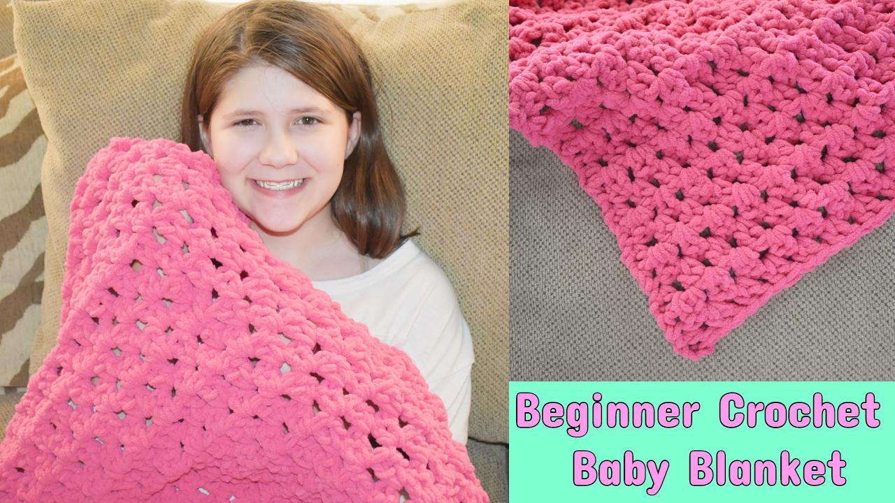 Amys Crochet Creative Creations Crochet Beginner Baby Blanket Tutorial