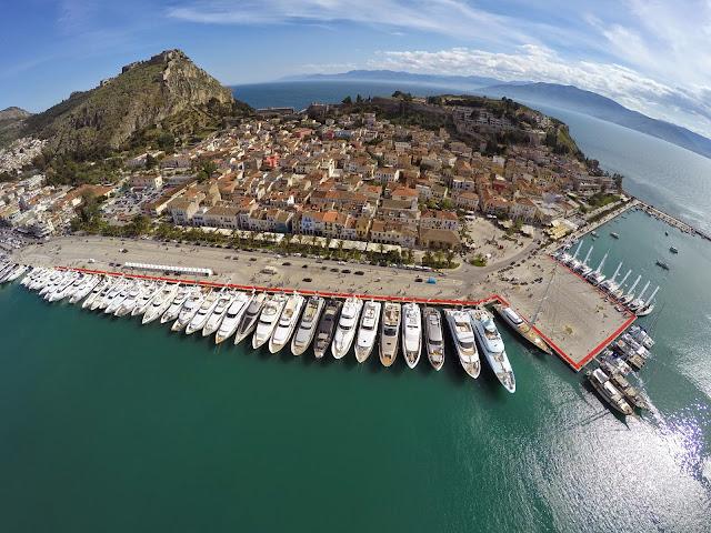 Απαγόρευση εισόδου και στάθμευσης στο λιμάνι του Ναυπλίου λόγω του 4ου Mediterranean Yacht Show