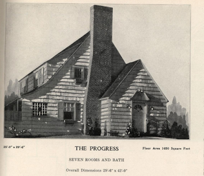 sears cedars  plan book lookalike with front chimney