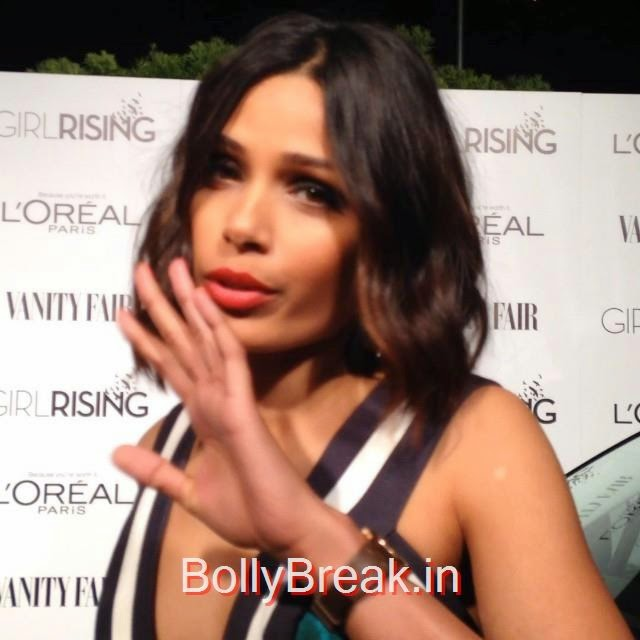 a pleasure interviewing for vf sc , @vfagenda freida pinto ,, Hot Pics of Freida Pinto From Latest Events