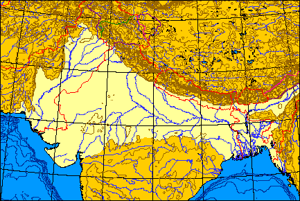 Geography of Indian Subcontinent  Northern Plains  Maps and