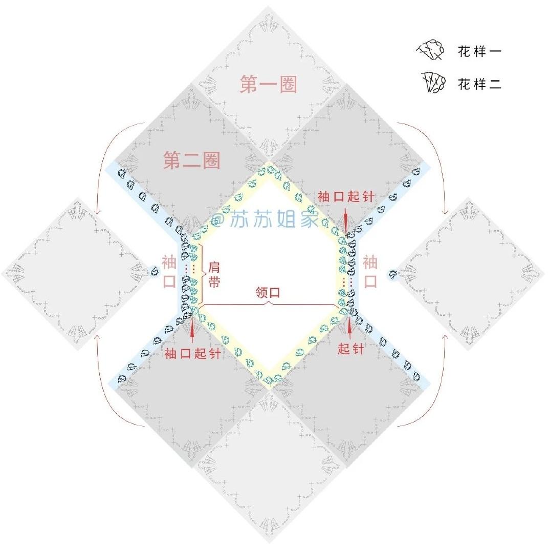 Схемы вязания топика из мотивов (3)