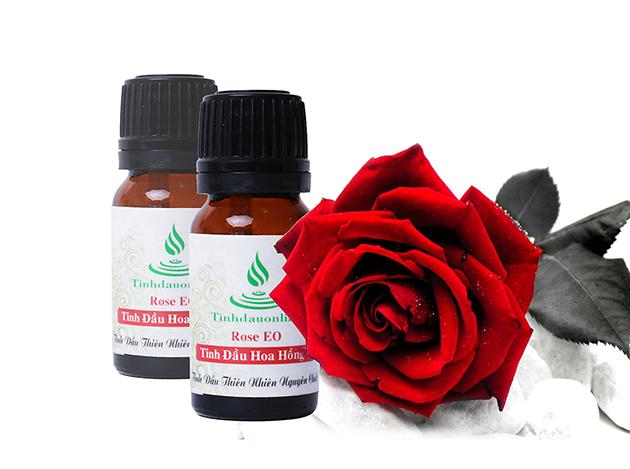 công cụng của tinh dầu hoa hồng