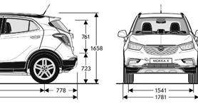 opel mokka x 2016 2017 dimensioni e misure bagagliaio dmotori prezzi auto uscita dimensioni. Black Bedroom Furniture Sets. Home Design Ideas