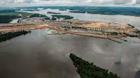 The Belo Monte Dam under construction on the Xingu River, a tributary of the Amazon, in 2015. (Credit: Fábio Nascimento/Greenpeace) Click to Enlarge.
