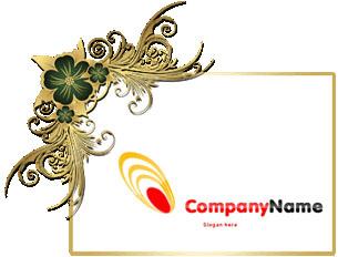 تحميل لوجو مجوهرات ومصوغات ذهبيه مفتوح للفوتوشوب ,Gold Jewelry PSD Logo Design Download