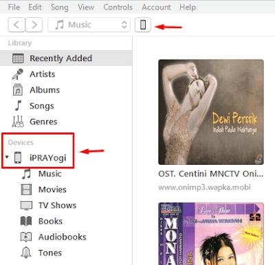 Cara Memasukan atau Memindahkan Lagu dari Laptop ke iPhone