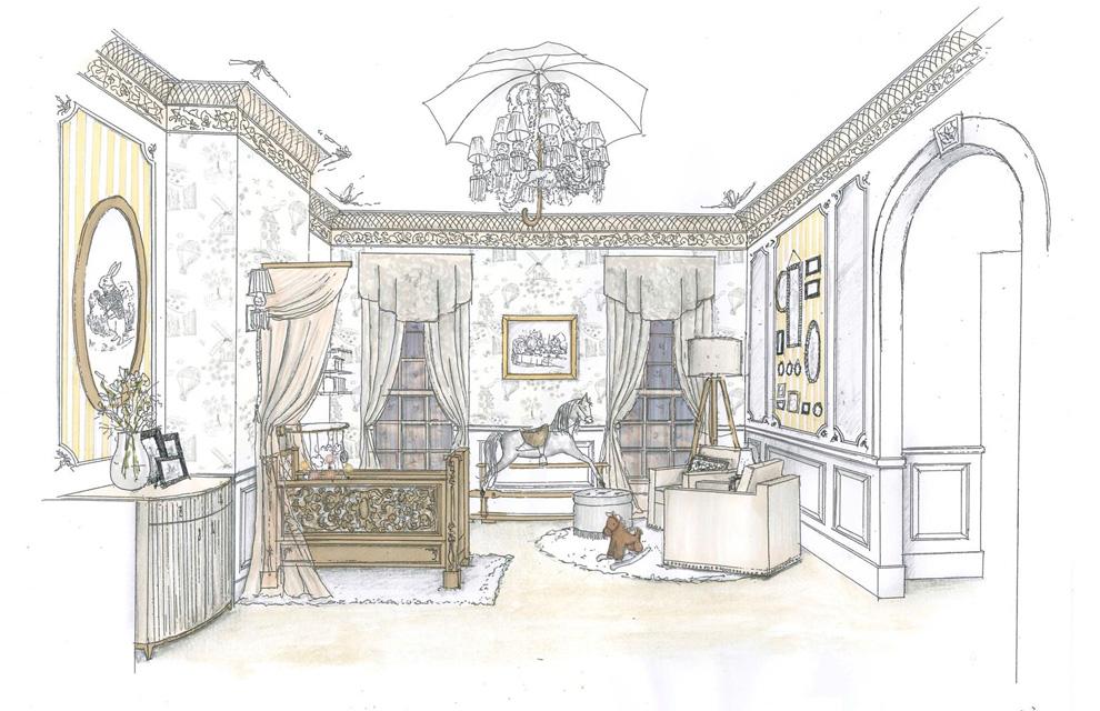 Hydrangea Hill Cottage Royal Baby Nursery Designs