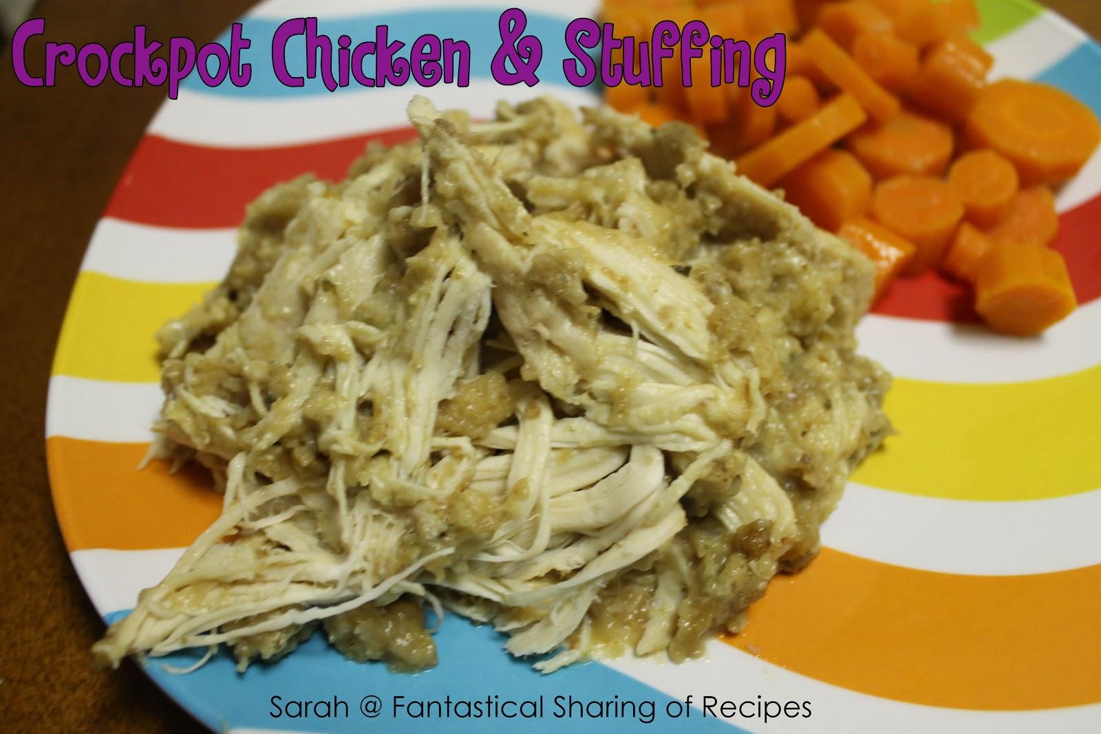 Fantastical Sharing Of Recipes Tasty Thursday 72 Crockpot Chicken Amp Stuffing