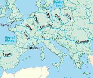 http://www.sheppardsoftware.com/Europe/Europe-rivers.html