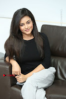 Telugu Actress Mishti Chakraborty Latest Pos in Black Top at Smile Pictures Production No 1 Movie Opening  0192.JPG