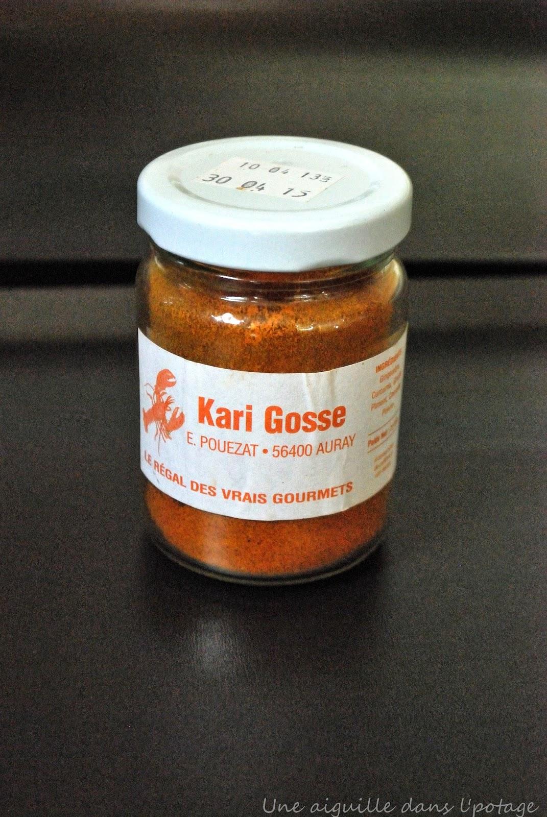 Flan de têtes de langoustines au Kari Gosse