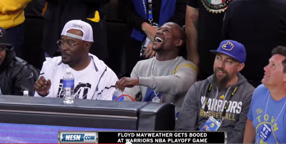 Mayweather booed NBA