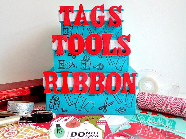 DIY: Stackable Gift Wrap Organizer