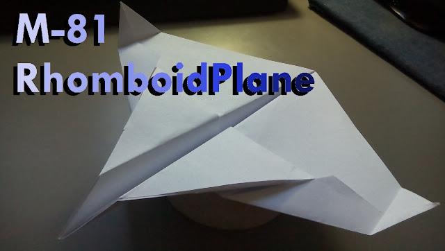 Avión de papel M-81