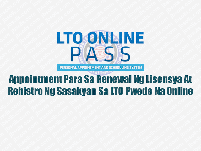 Life has been made easier by the rise of modern technology. It saves resources and time, making every second productive. The Internet has been a great help o the life of overseas Filipino workers (OFW) as well as local workers as the Philippines started to automate government transactions. Recently, the Land Transportation Office (LTO) started online appointment services for the renewal of drivers license and vehicle registration which eliminate the hassle of piling up on their branches in long queues.  Advertisement        Sponsored Links       Land Transportation Office (LTO) launched Abril 24, its online system where motorists can set appointments for applying or renewing their driving license and vehicle registration.     According to LTO Management Information Division chief Rector Antigua, the online appointment at scheduling system will hasten the process of the needed documents of the motorists from the agency.  However, on its initial launch, it will be available only in four districts namely Marikina, Pasig, Muntinlupa, and Novaliches. The service will be available nationwide soon.  Para sa mga nais mapakinabangan ang serbisyo, gaya halimbawa ng pagkuha o pag-renew ng lisensiya, unang i-access o buksan ang www.lto.net.ph.   Basahin ang terms and condition bago i-fill up ang form kung saan hihingin ang pangalan, e-mail, at driver's license number.   Matapos isumite, titingnan ng sistema kung kailangan nang i-renew o hindi ang lisensiya.   Sakaling malapit nang mawalan ng bisa ang lisensiya, mare-redirect ang motorista sa ibang page kung saan maaari itong pumili ng tanggapan, petsa at oras ng appointment para sa renewal.   Para naman sa mga nais i-renew ang rehistro ng kanilang sasakyan, makatatanggap ng confirmation e-mail ang motorista matapos magtakdang appointment schedule sa website.   Ipapakita lang ang confirmation e-mail sa mga licensing office ng LTO para maasikaso ng mga tauhan.   Balak ng LTO na ipatupad ang online system sa buong bansa bago matapos ang taon.  READ MORE: AFP Personnel To Get MRT Free Ride Starting April 25; Workers On Labor Day    How Do You Pay Your Electric, Water, Phone And Other Bills Using BDO Online?    Recruiters With Delisted, Banned, Suspended, Revoked And Cancelled POEA Licenses 2018    List of Philippine Embassies And Consulates Around The World    Classic Room Mates You Probably Living With   Do Not Be Fooled By Your Recruitment Agencies, Know Your  Correct Fees    Remittance Fees To Be Imposed On Kuwait Expats Expected To Bring $230 Million Income    TESDA Provides Training For Returning OFWs   Cash Aid To Be Given To Displaced OFWs From Kuwait—OWWA    Former OFW In Dubai Now Earning P25K A Week From Her Business  ©2018 THOUGHTSKOTO  www.jbsolis.com