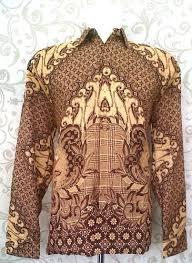 model baju batik pria kombinasi lengan panjang Terbaru