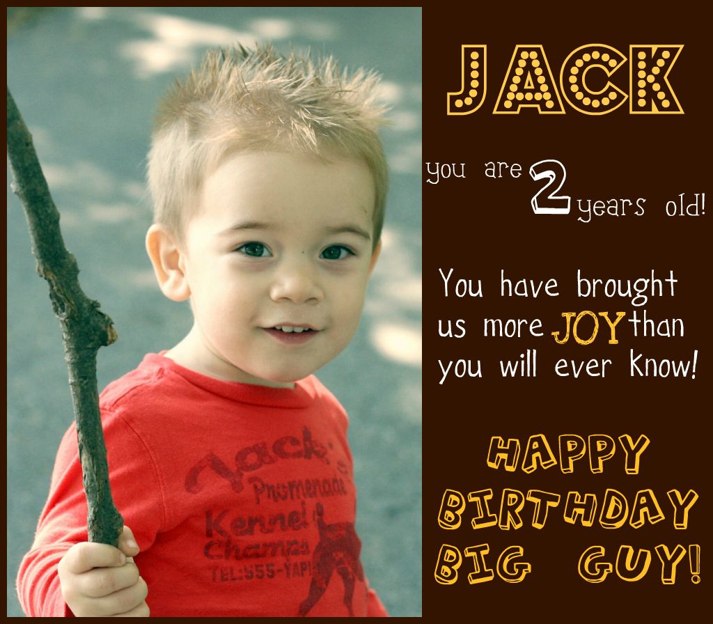 Country Mouse Tales: Happy Birthday Jack!!