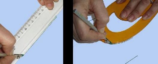 Trilinin cetvel ve pistole yardımıyla kullanılması