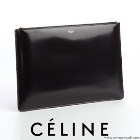 Crown Princess Mette-Marit carried Celine black black patent leather clutch