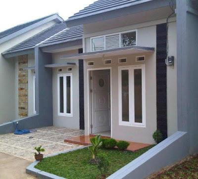 contoh warna cat eksterior rumah yang elegan terbaru