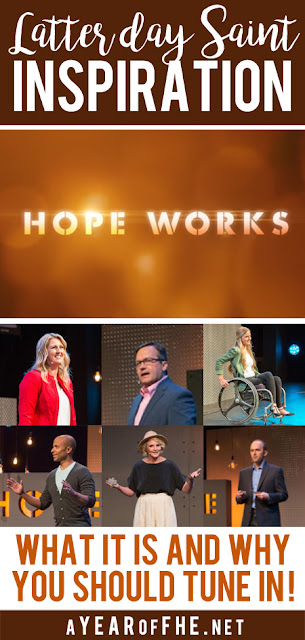 A Year of FHE // A full review of a brand new resource for Latter-day Saints called HOPE WORKS. It's like Ted Talks for Mormons! #lds #tedtalks #hopeworks