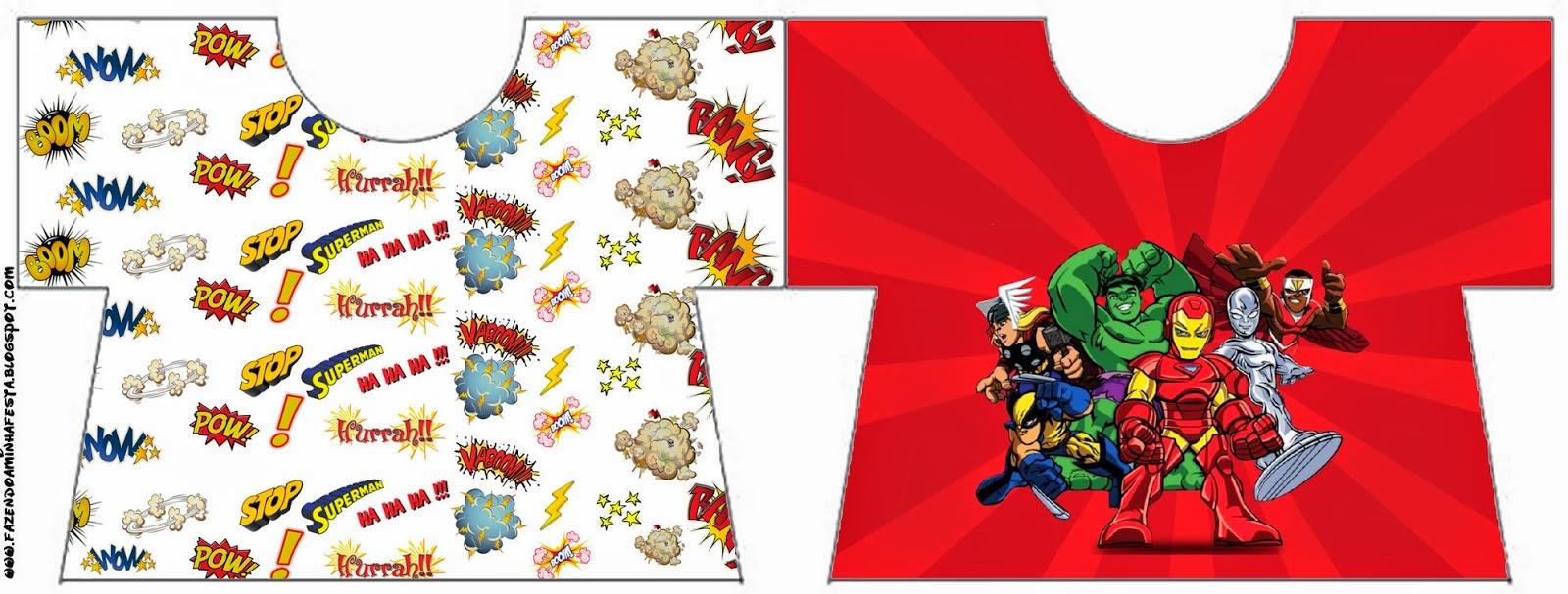 Escuadrón de Héroes Marvel: Invitaciones para Imprimir Gratis ...